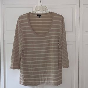 Talbots 3/4 sleeve cotton sweater size XL